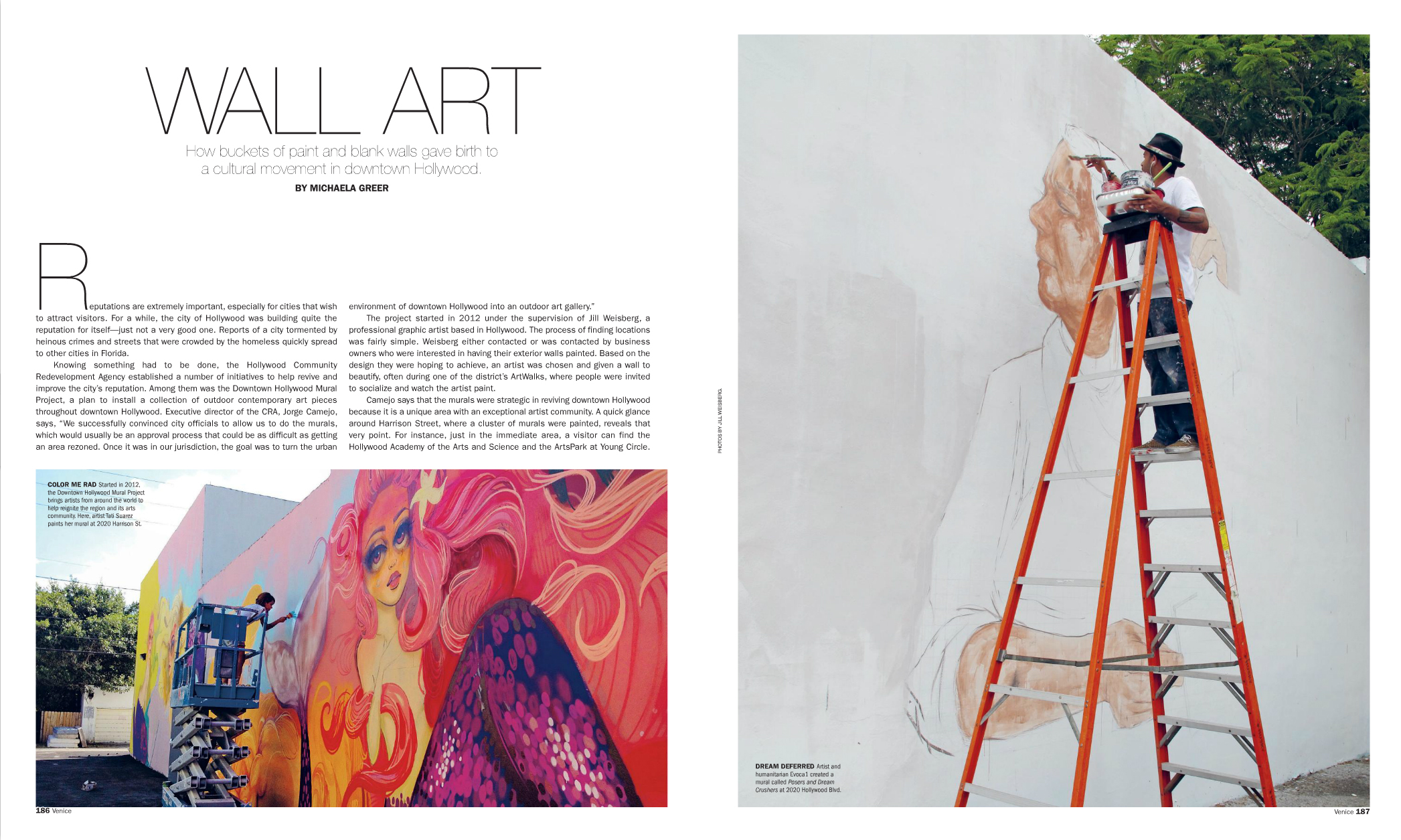 Downtown hollywood mural project in venice magazine for Downtown hollywood mural project