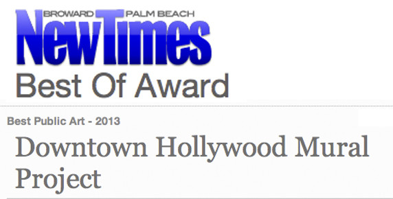 Downtown hollywood mural project wins new times best for Downtown hollywood mural project