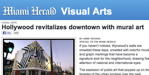 Downtown hollywood mural project in the miami herald for Downtown hollywood mural project